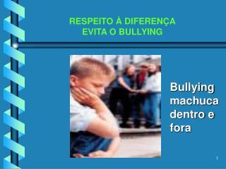 RESPEITO   DIFEREN A EVITA O BULLYING