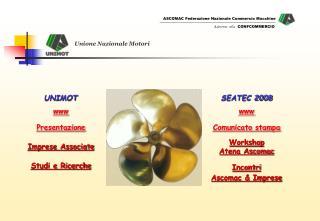 SEATEC 2008 www Comunicato stampa Workshop  Atena Ascomac Incontri Ascomac  Imprese