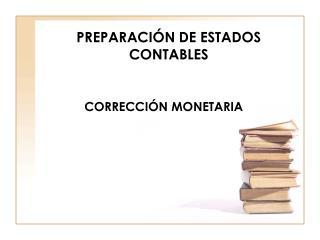 PREPARACI N DE ESTADOS CONTABLES