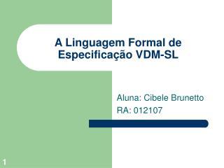 A Linguagem Formal de Especifica  o VDM-SL