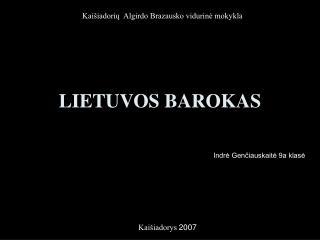 LIETUVOS BAROKAS