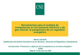 Herramientas para el an lisis de competencia en los sectores el ctrico y de gas natural: la perspectiva de un regulador