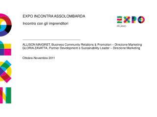 EXPO INCONTRA ASSOLOMBARDA Incontro con gli imprenditori