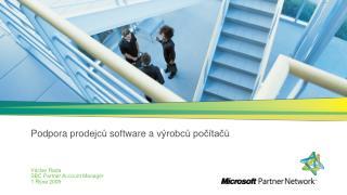 Podpora prodejcu software a v robcu poc tacu