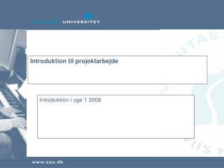 Introduktion til projektarbejde