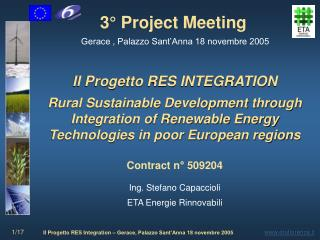 3  Project Meeting