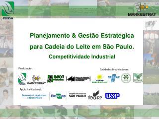 Planejamento  Gest o Estrat gica  para Cadeia do Leite em S o Paulo. Competitividade Industrial