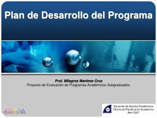 Plan de Desarrollo del Programa