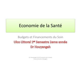 Economie de la Sant