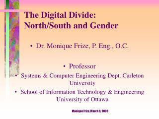 The Digital Divide:  North