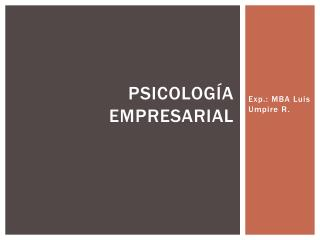 Psicolog a Empresarial