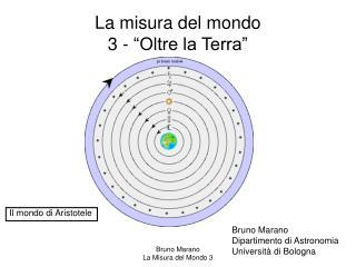 La misura del mondo 3 -  Oltre la Terra