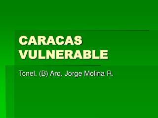 CARACAS VULNERABLE