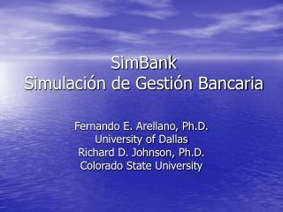 SimBank Simulaci n de Gesti n Bancaria