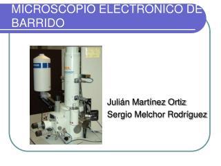 MICROSCOPIO ELECTR NICO DE BARRIDO