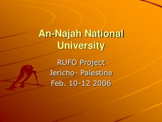 An-Najah National University