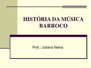 HIST RIA DA M SICA BARROCO