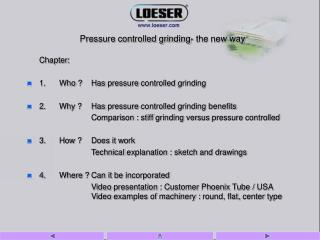 Chapter: 1. Who  Has pressure controlled grinding