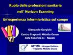 GITMO - Gruppo Italiano                Trapianto Midollo Osseo