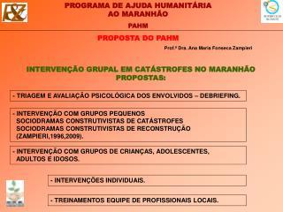 PROPOSTA DO PAHM
