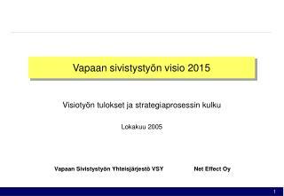 Vapaan sivistysty n visio 2015