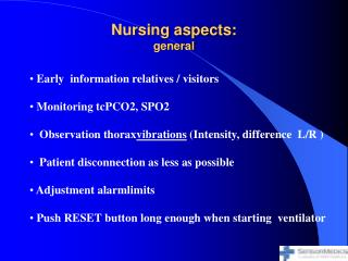 Nursing aspects: general