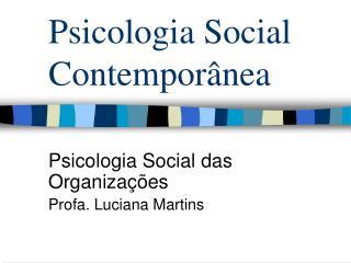 Psicologia Social Contempor nea