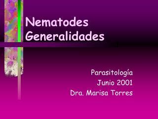 Nematodes Generalidades
