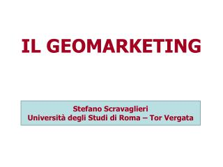 IL GEOMARKETING