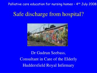 Safe discharge from hospital