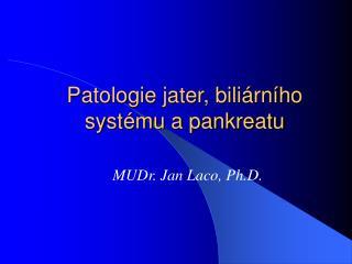 Patologie jater, bili rn ho syst mu a pankreatu