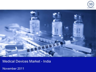 Medical Devices Market in India 2011