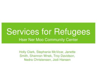 Services for Refugees