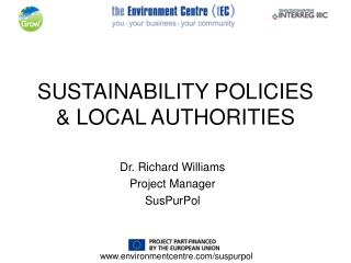 SUSTAINABILITY POLICIES  LOCAL AUTHORITIES