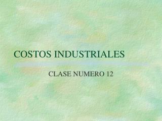 COSTOS INDUSTRIALES