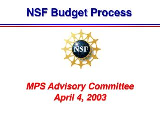 NSF Budget Process