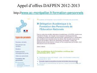 Appel d offres DAFPEN 2012-2013 ac-montpellier.fr