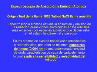 Espectroscop a de Absorci n y Emisi n At mica