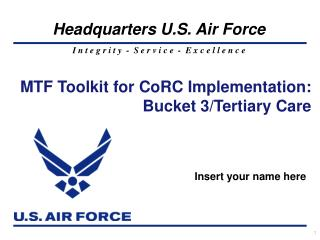 MTF Toolkit for CoRC Implementation: Bucket 3