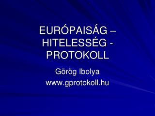 EUR PAIS G   HITELESS G - PROTOKOLL