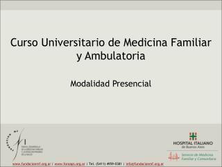 Curso Universitario de Medicina Familiar y Ambulatoria