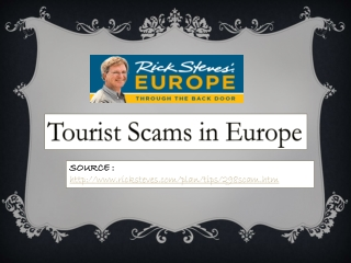 Facebook - Rick Steves' Europe: Tourist Scams in Europe - we