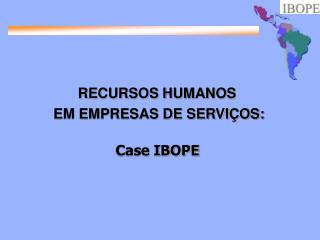 RECURSOS HUMANOS  EM EMPRESAS DE SERVI OS: