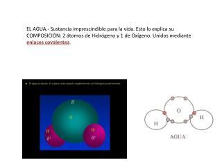 EL AGUA.- Sustancia imprescindible para la vida. Esto lo explica su  COMPOSICI N: 2  tomos de Hidr geno y 1 de Ox geno.