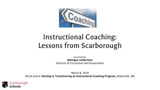 Instructional Coaching The Components of Coaching