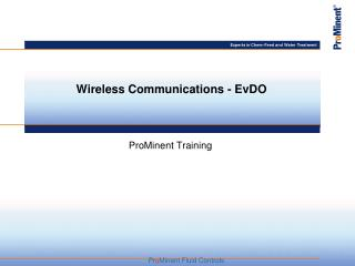 Wireless Communications - EvDO