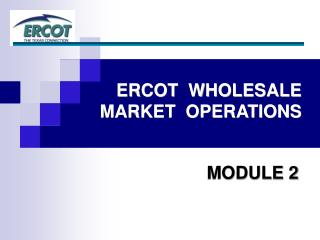 ERCOT  WHOLESALE  MARKET  OPERATIONS