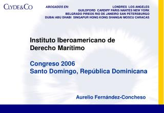 Instituto Iberoamericano de  Derecho Mar timo
