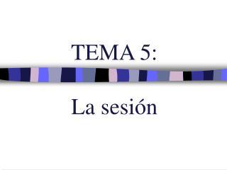 TEMA 5:  La sesi n