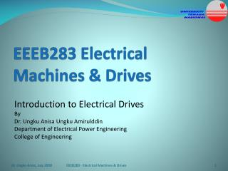 EEEB283 Electrical Machines  Drives